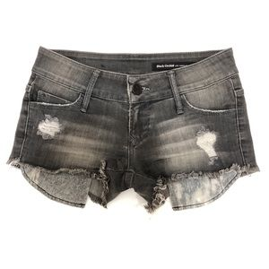 Black Orchid Colombite Cut-Off Denim Shorts